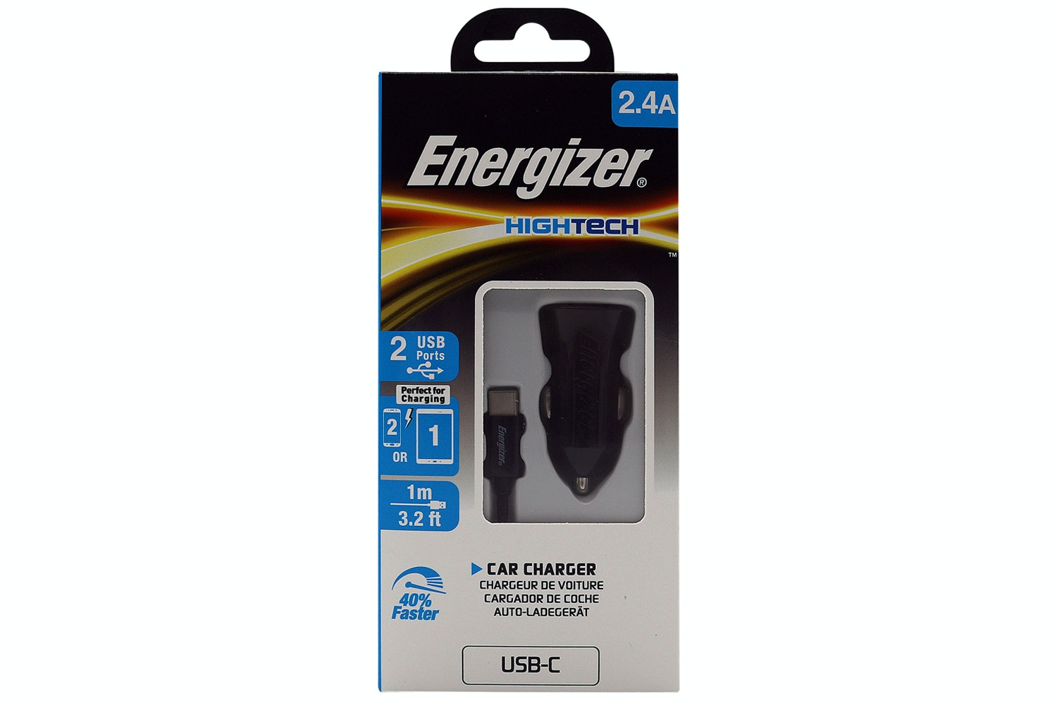 Energizer Type C Car Mobile Charger | Black