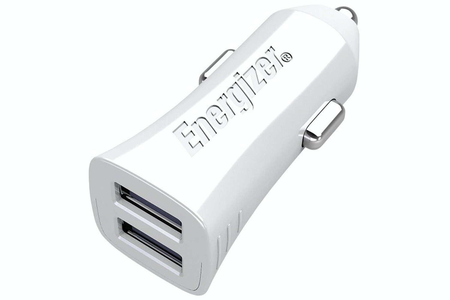 Energizer 3.4A Dual USB Car Charger | White