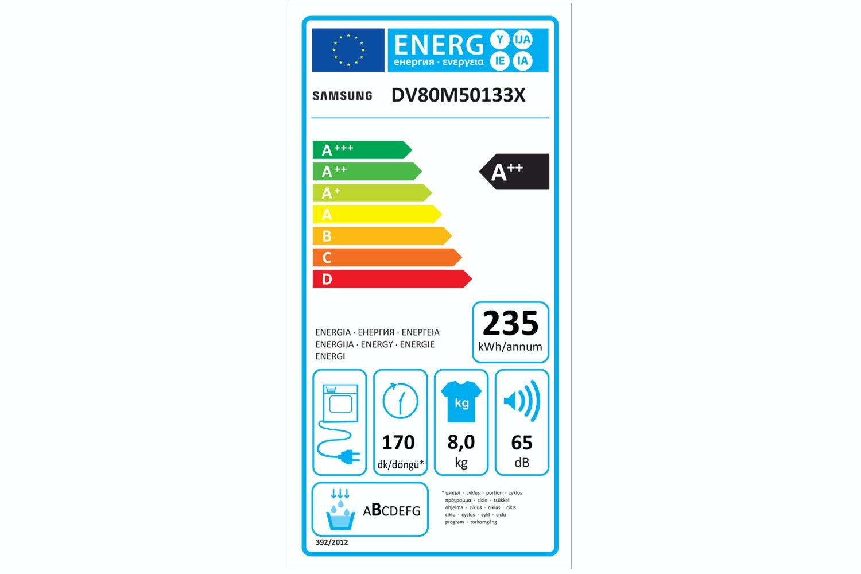 Samsung 8kg Heat Pump Dryer Graphite | DV80M50133X/EU