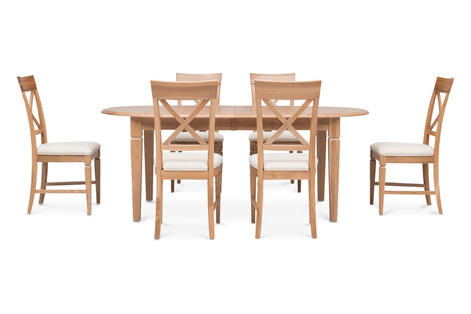 Prunella 7pc Dining Set | Oval Extending Table
