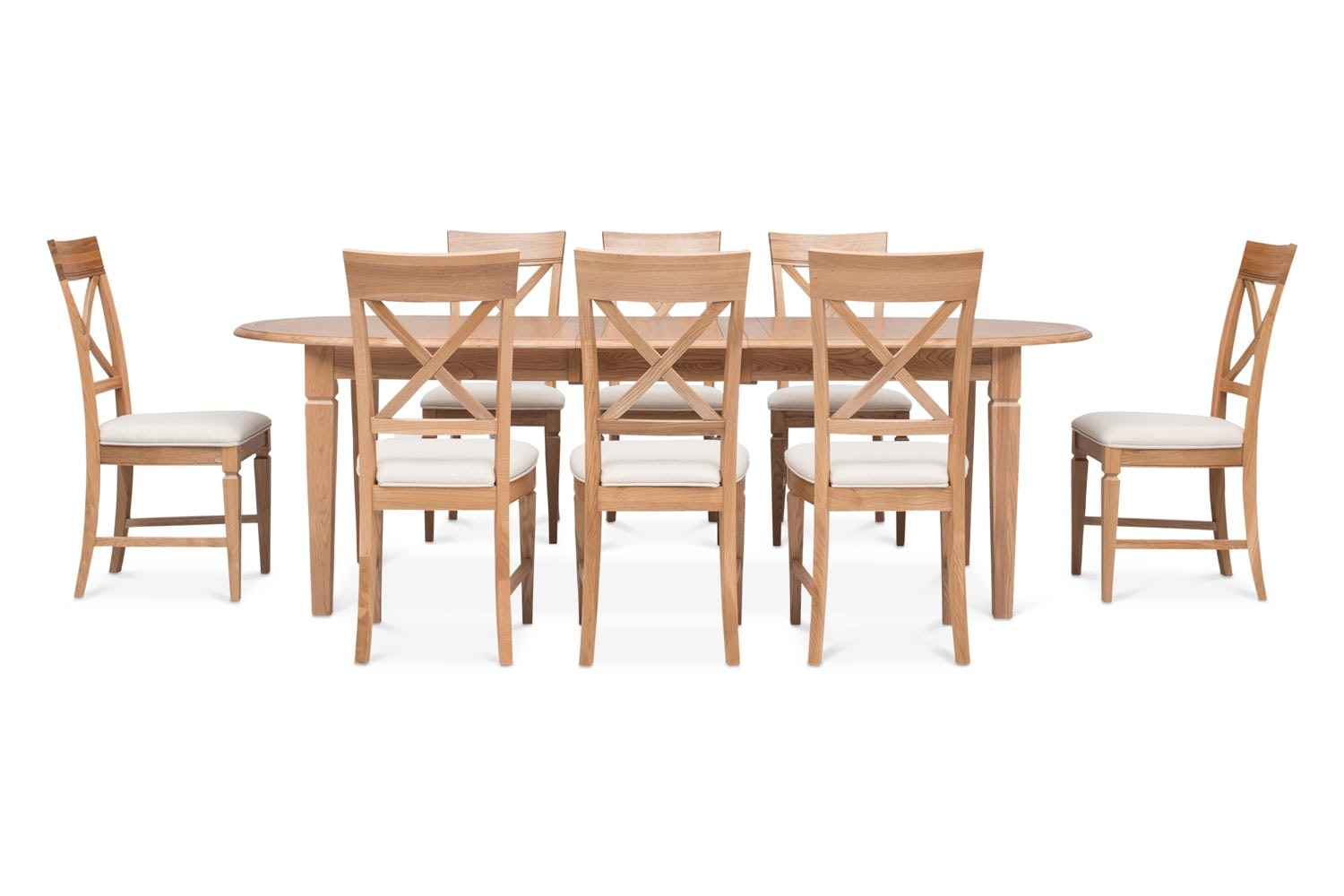 Prunella 9 Piece Dining Set | Oval Extending Table