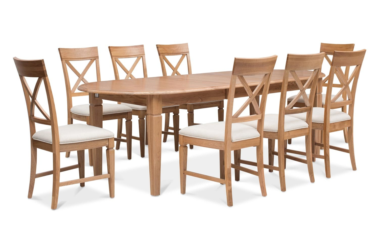 Prunella 9pc Dining Set | Oval Extending Table