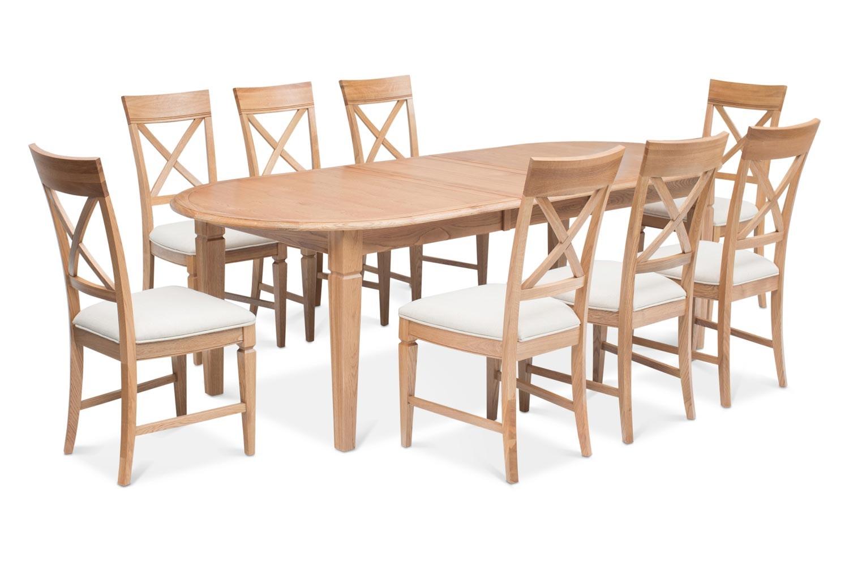 Prunella 9 Piece Dining Set | Oval Extending Table