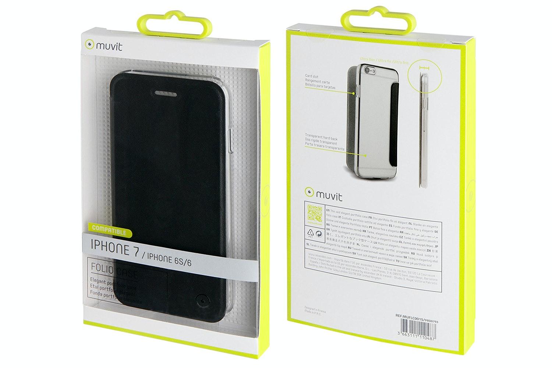Muvit Folio Case For iPhone 7   Black