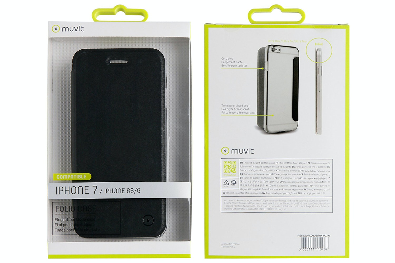 Muvit Folio Case For iPhone 7 | Black