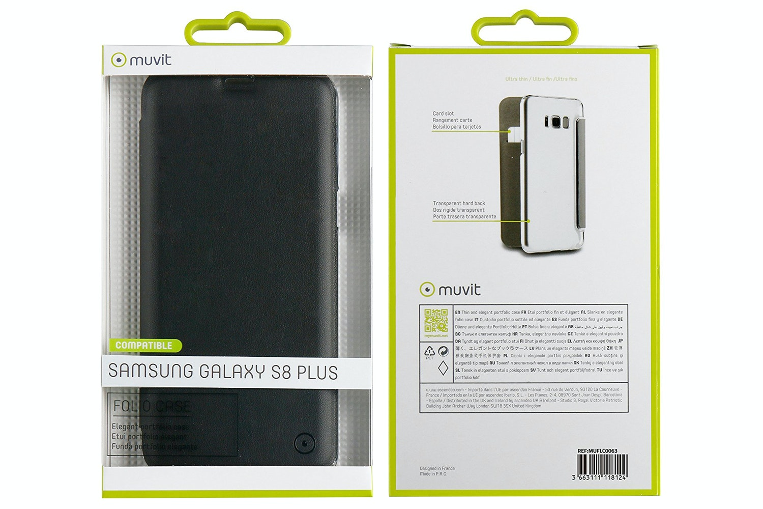 Muvit Folio Case For Samsung Galaxy S8 Plus | Black