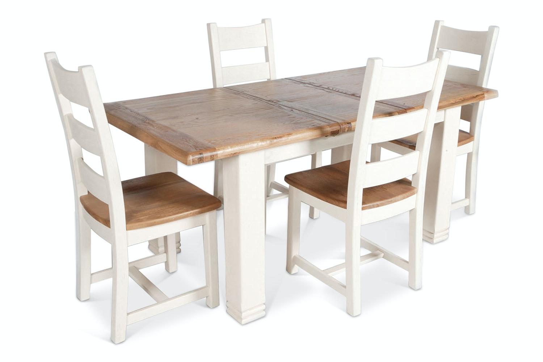 Queenstown 5 Piece Dining Set | White