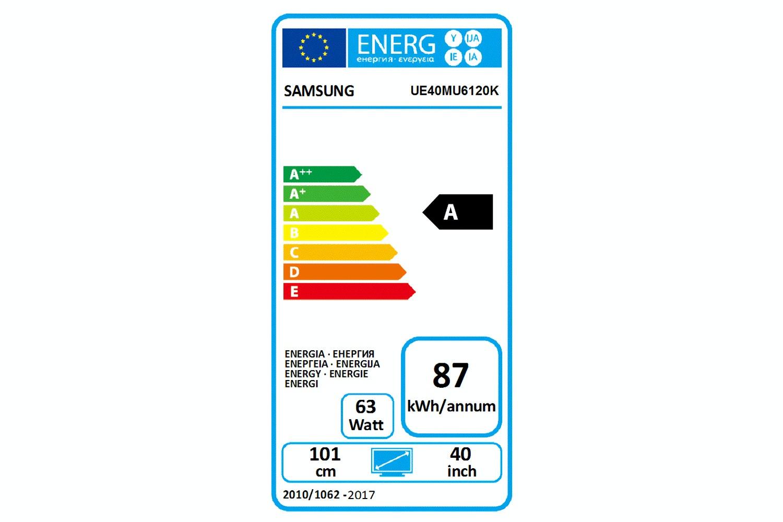 "Samsung 40"" Smart Ultra HD LED TV | UE40MU6120KXXU"