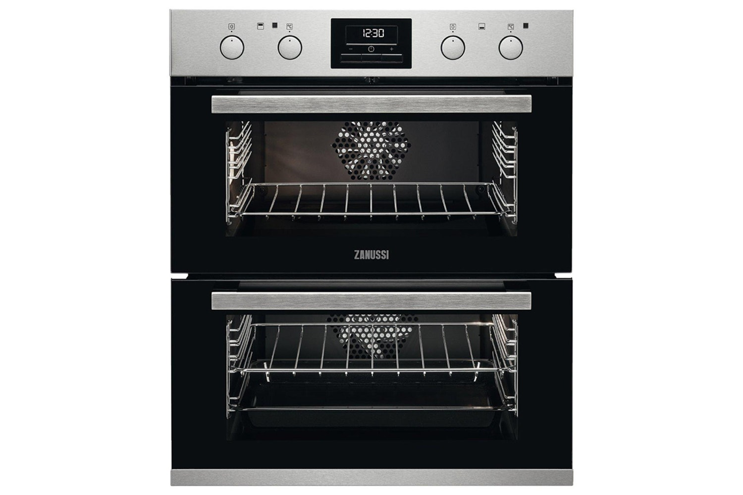 Zanussi Built Under Double Oven Stainless Steel | ZOF35802XK