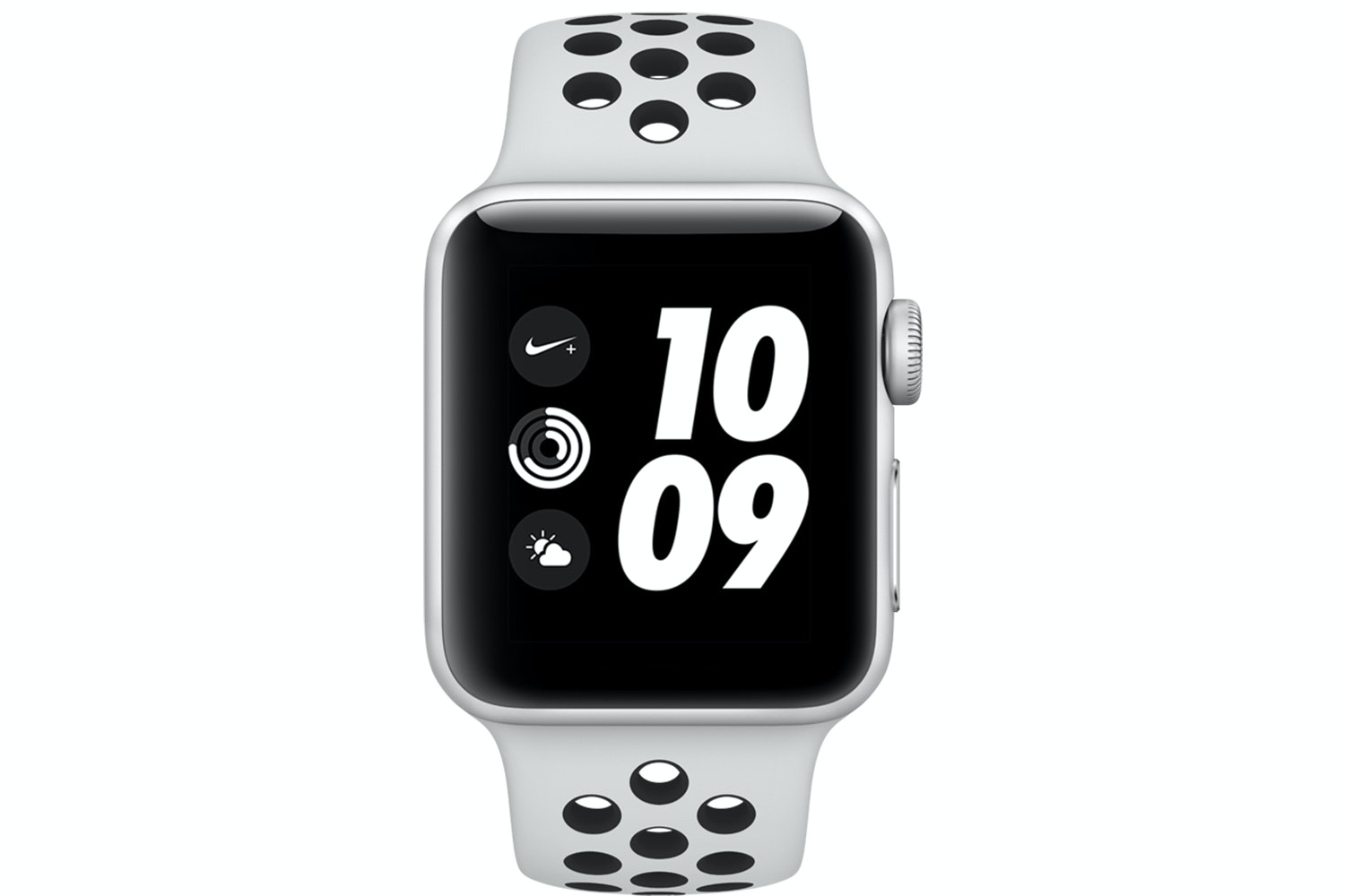Apple Watch Nike+ GPS, 38mm Silver Aluminium Case with Pure Platinum/Black Nike Sport Band