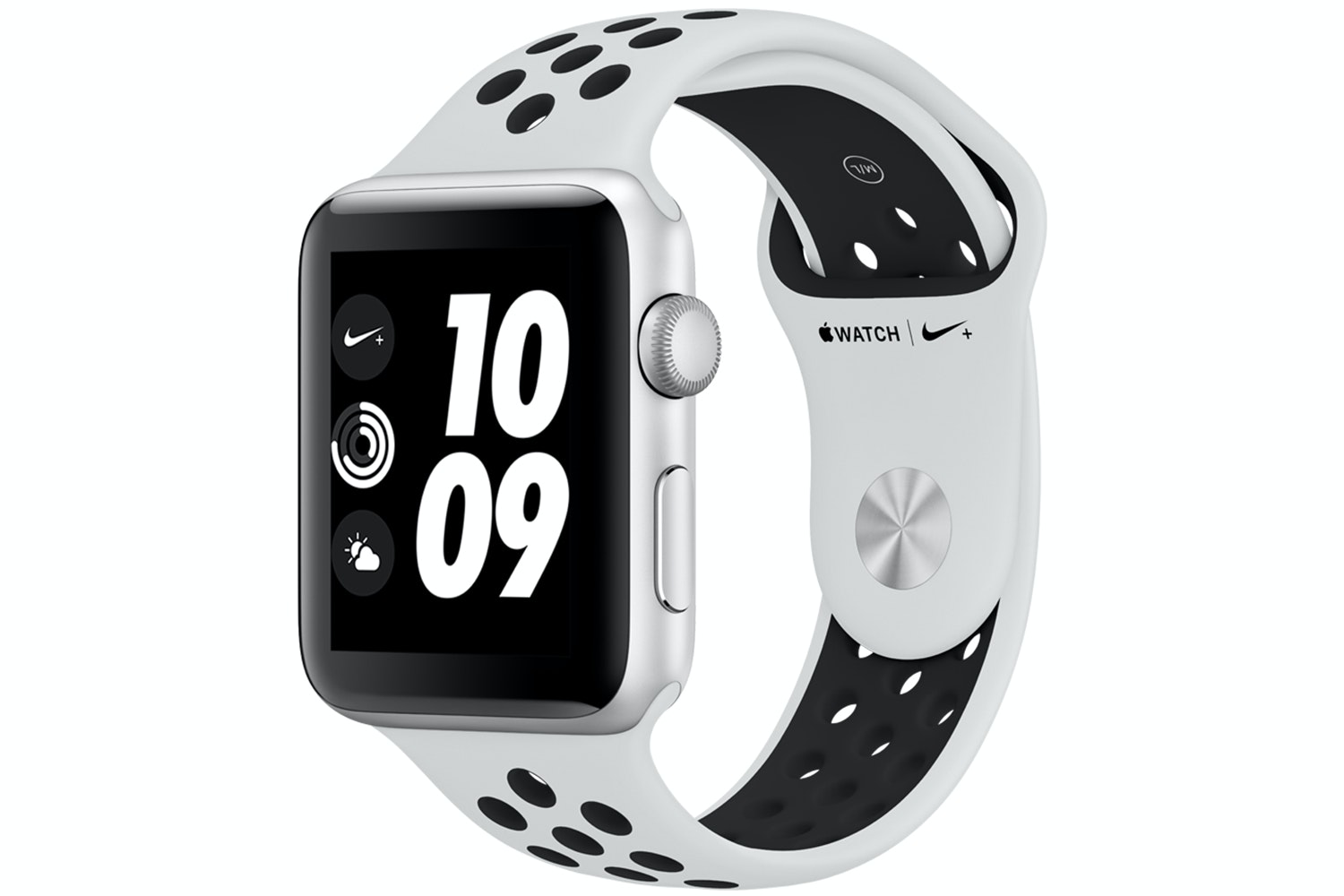 Apple Watch Nike+ GPS, 42mm Silver Aluminium Case with Pure Platinum/Black Nike Sport Band