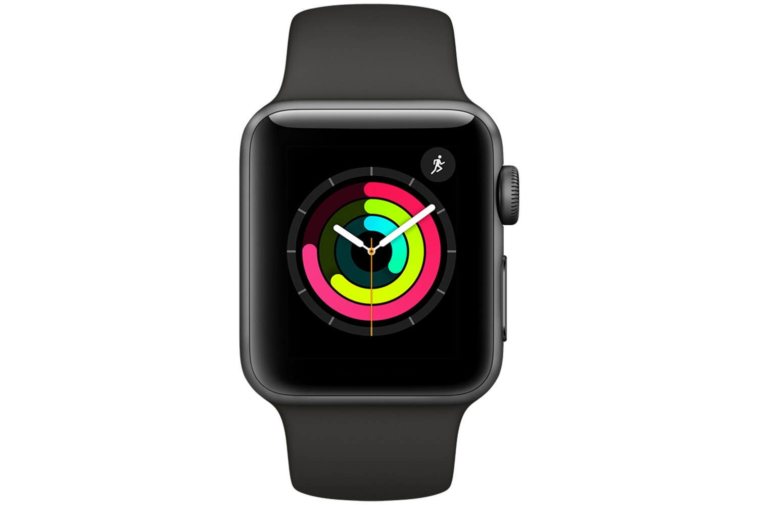 Apple Watch Series 3 GPS, 38mm Space Grey Aluminium Case with Grey Sport Band