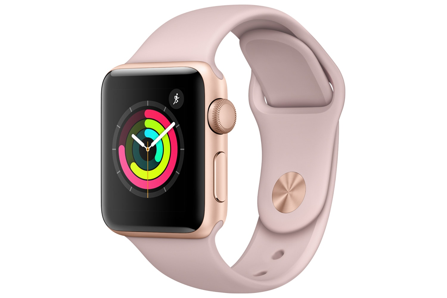 Apple Watch Series 3 GPS Gold Aluminium Case with Pink Sand Sport Band | 38mm
