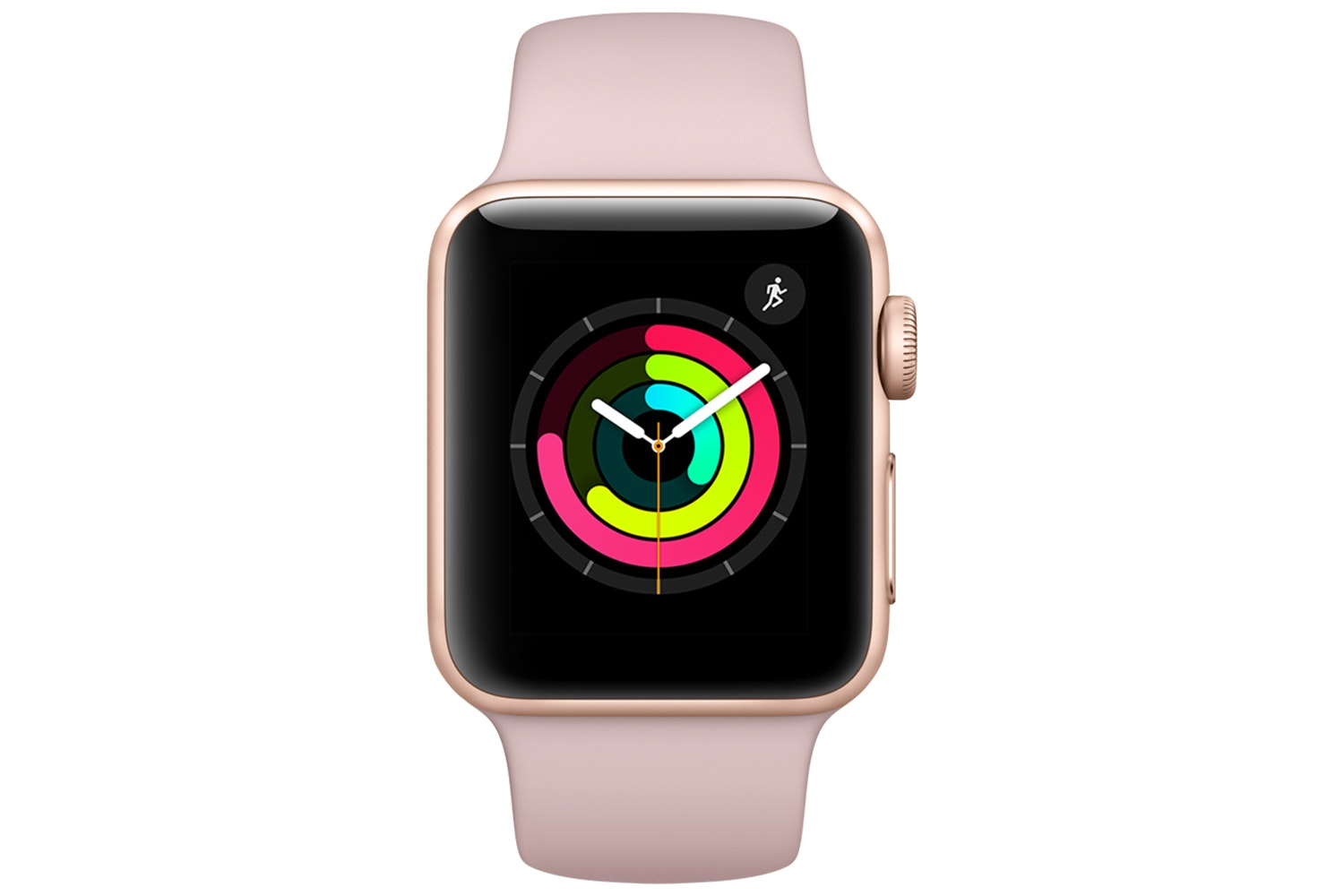 Apple Watch Series 3 GPS, 38mm Gold Aluminium Case with Pink Sand Sport Band