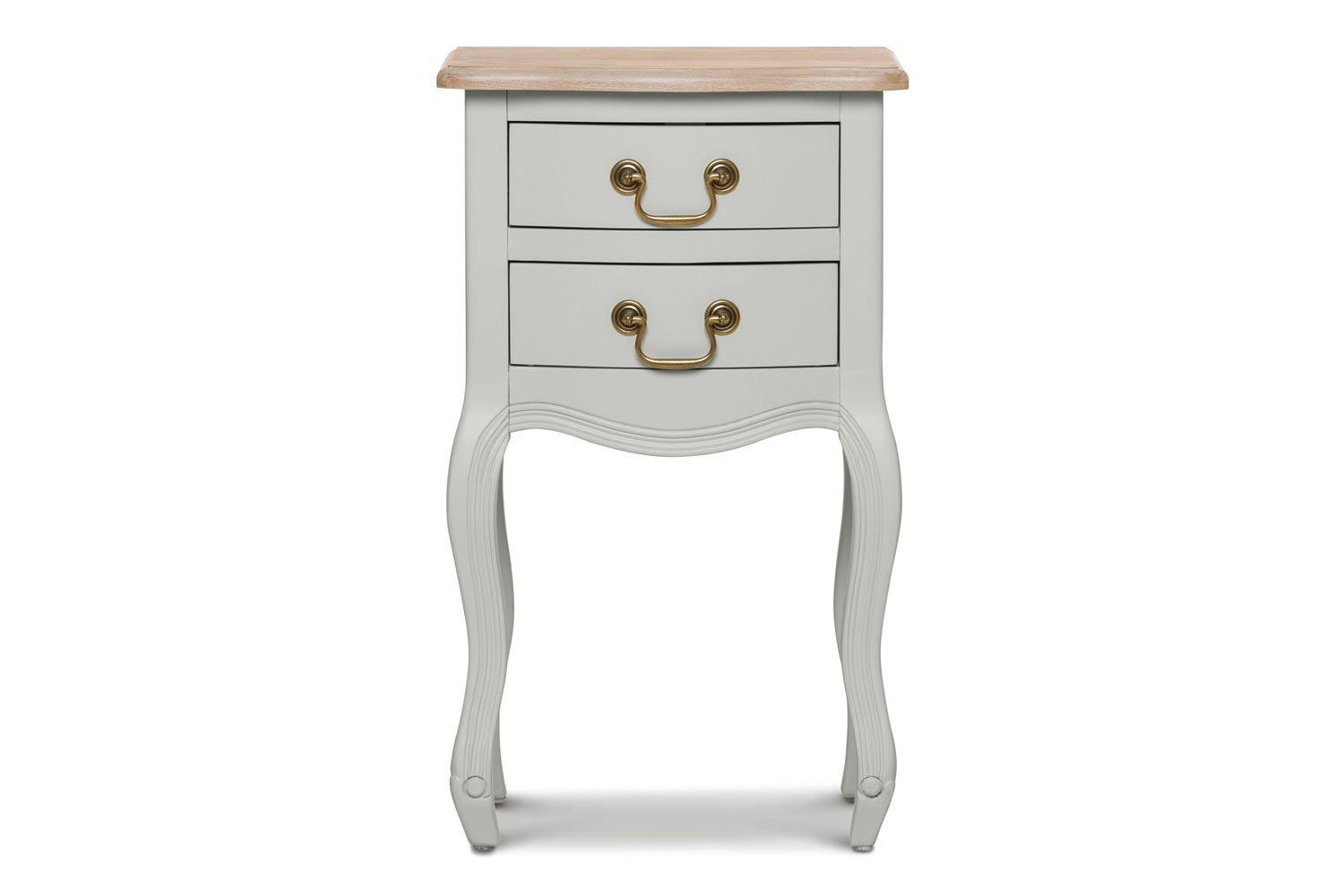 Bouvard 2 Drawer Bedside Locker | Oyster Bed