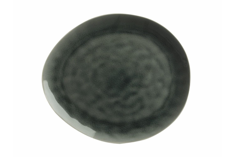 Mw Artisan Plate   Storm Grey 27X23Cm