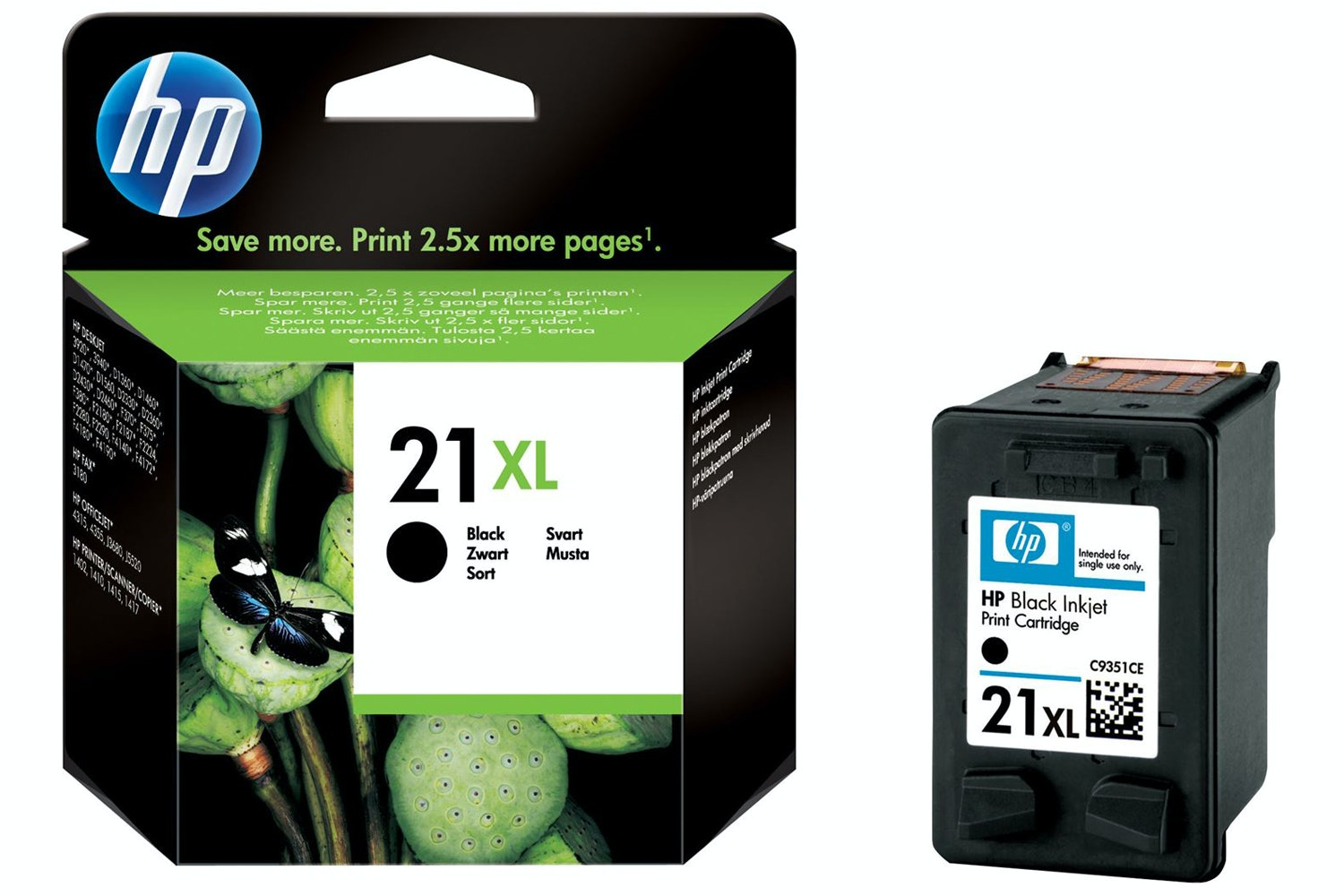 HP 21XL High Yield Original Ink Cartridge | Black