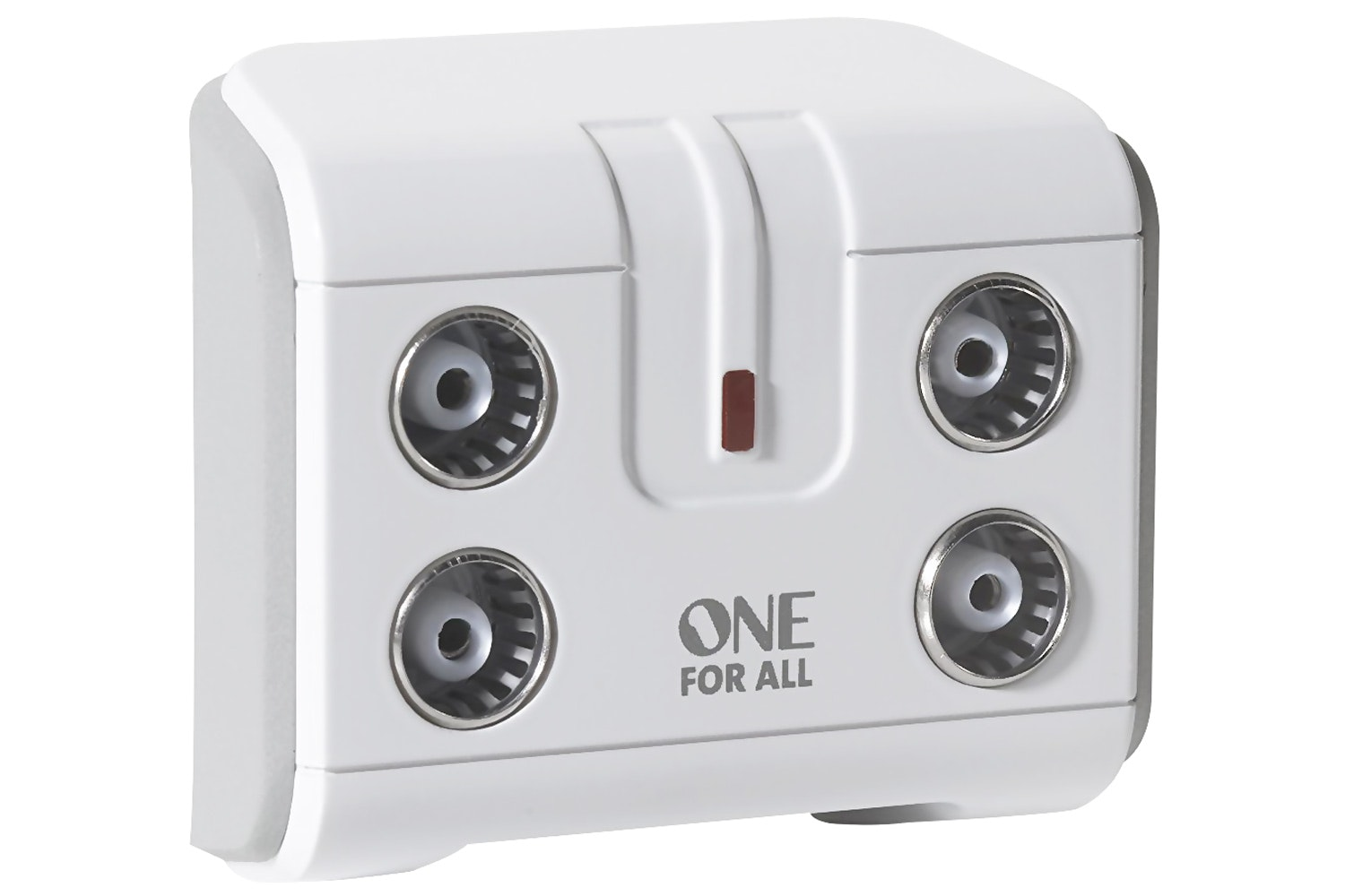 One For All 4 way TV Signal Booster | White