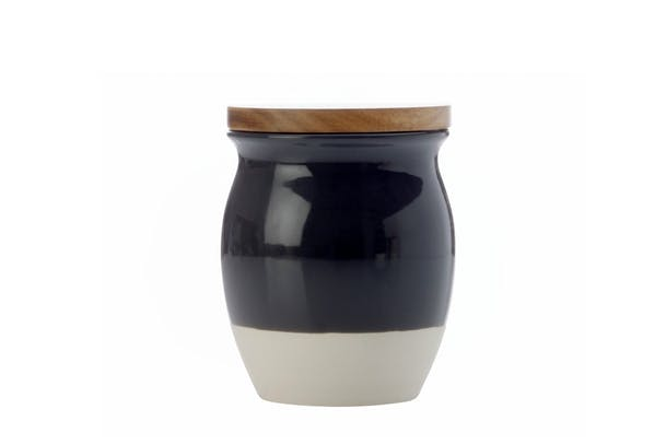 Mw Artisan Dipped Canister |Small | Charcoal