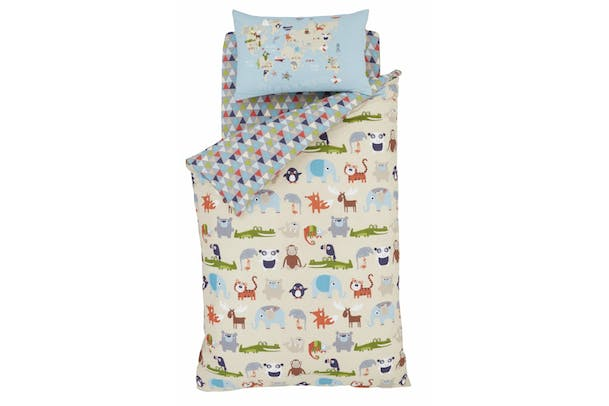 Animal Kingdom Single Fitted Sheet Multi