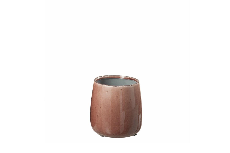 Small Glazed Ceramic Pot   Small