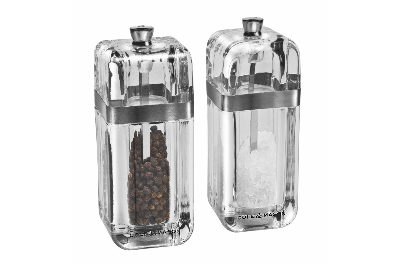Cole & Mason Kempton Clear Glass Salt And Pepper Set