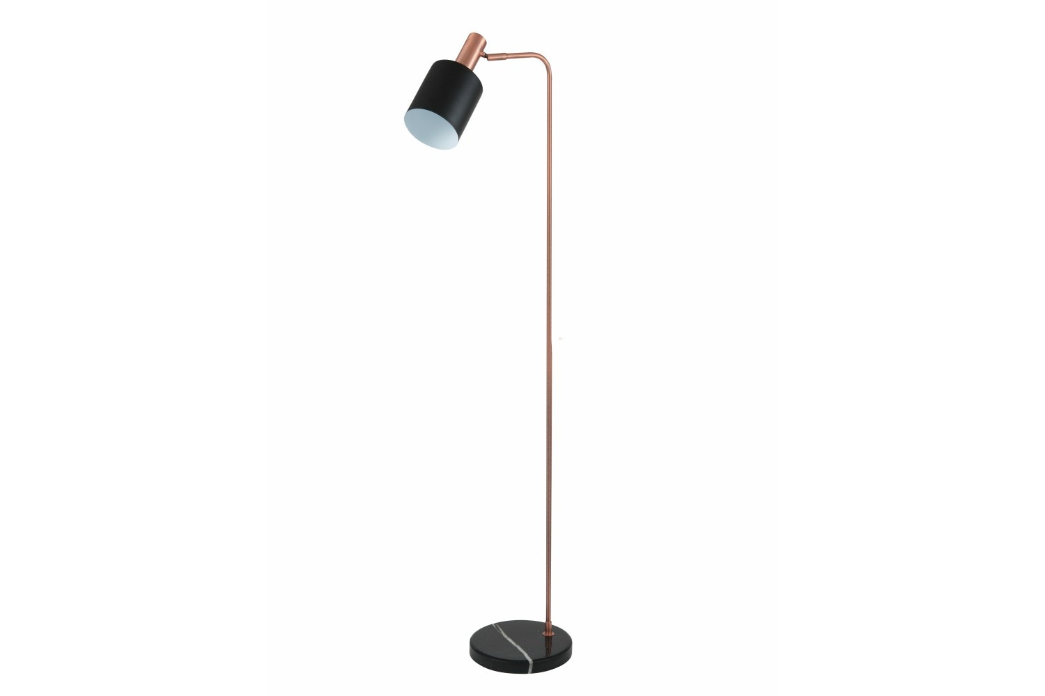 Black & Antique Copper Task Floor Lamp