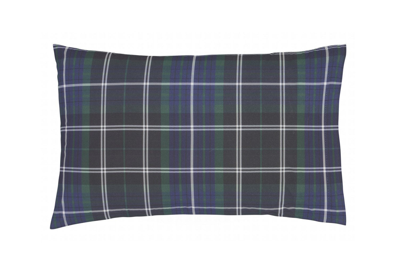 Brushed Tartan Duvet Set | Double | Check Navy