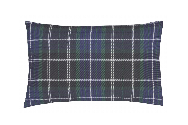 Brushed Tartan Duvet Set | King | Check Navy