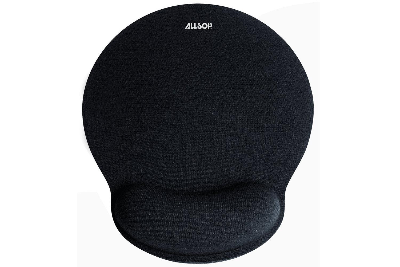 Allsop Gel Mouse Pad With Mini Wrist Rest | Black