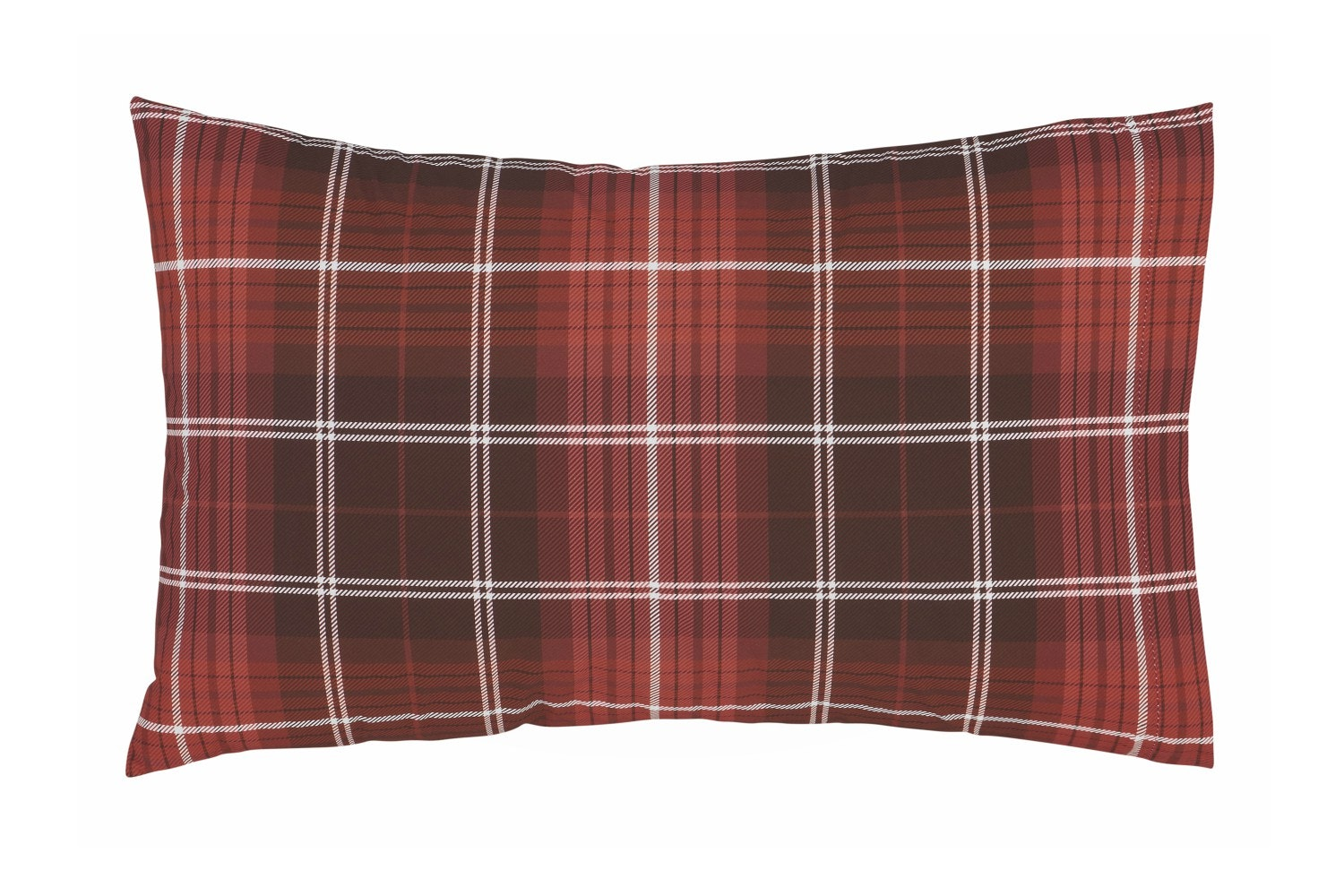 Brushed Tartan Duvet Cover Set | Double | Check Red