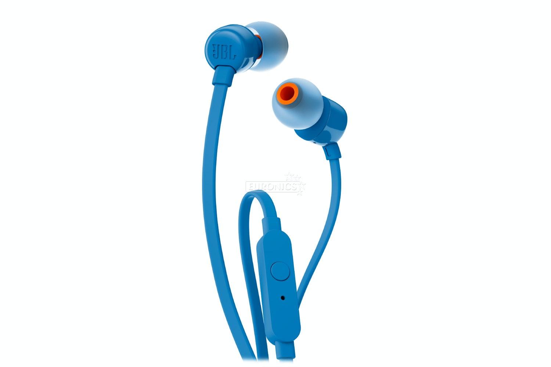 JBL T110 Pure Bass In-Ear Headphones | Blue
