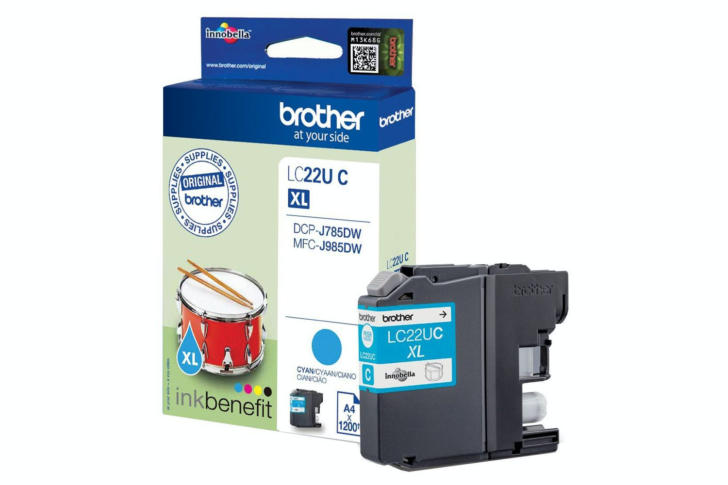 Brother LC22UC Ink Cartridge | Cyan