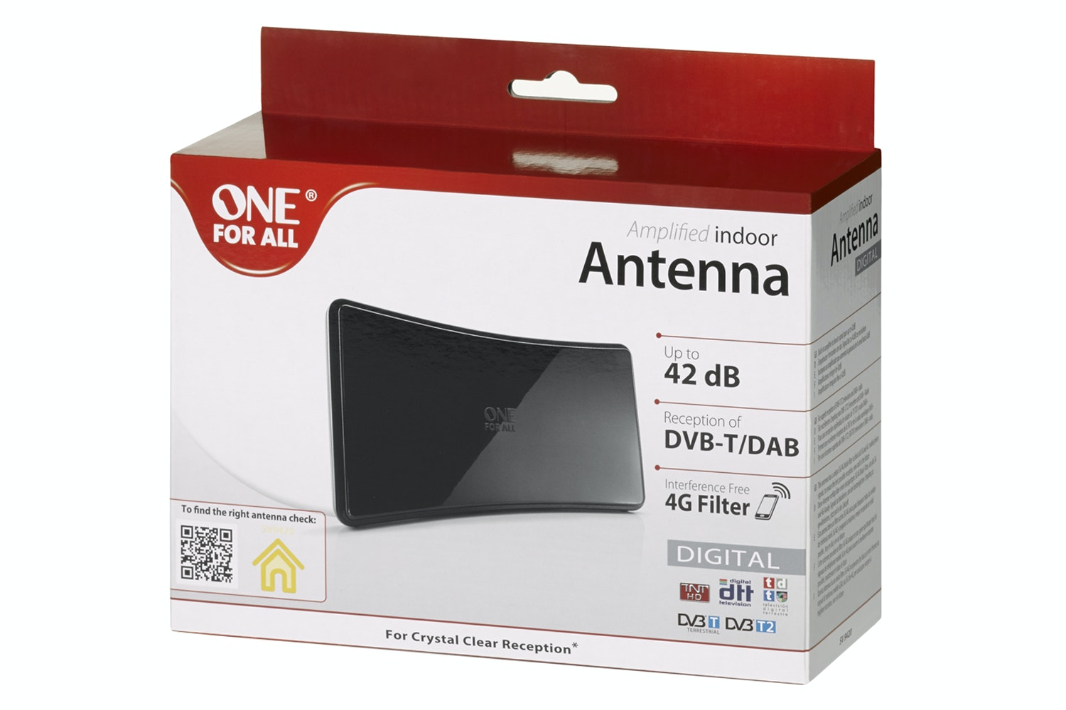 One For All Amplified Indoor Curved Aerial   SV9420