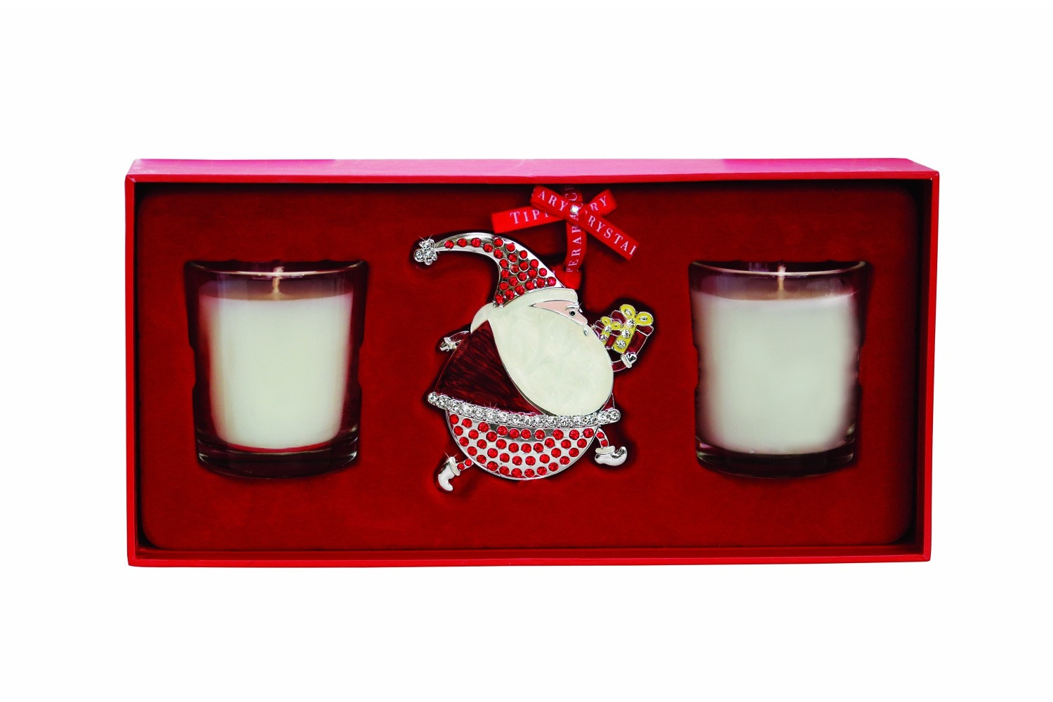 Tipperary Crystal Gift Set Two Candles and Decoration