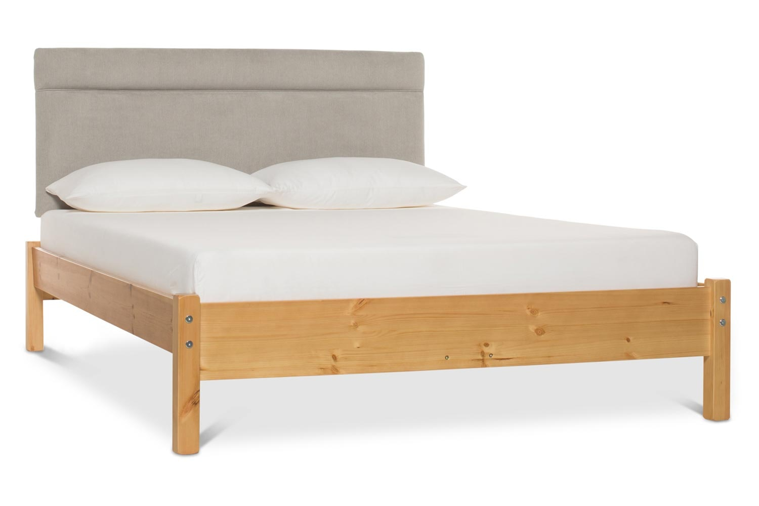 Emily Loft Natural Bed Frame | 5FT | Elton Headboard Silver