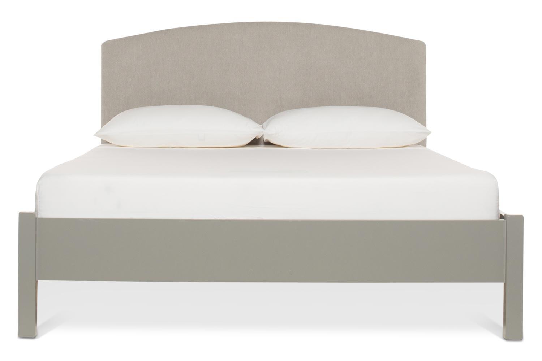Emily Loft Grey Bed Frame | 4FT6 | Lennon Headboard Silver