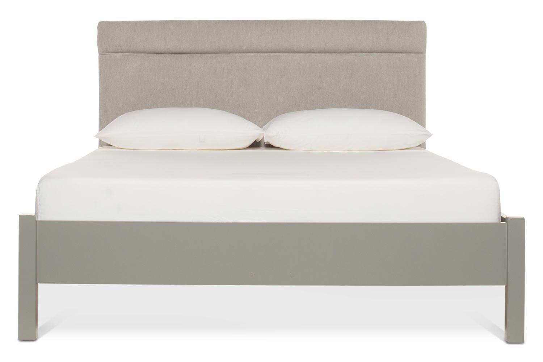 Emily Loft Grey Bed Frame | 5FT | Elton Headboard Silver