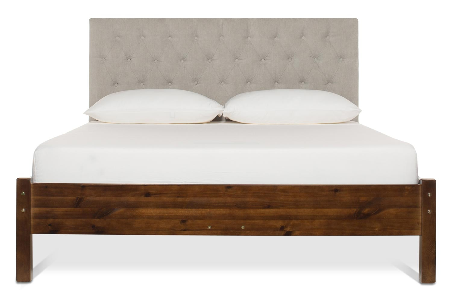 Emily Loft Walnut Bed Frame | 5FT | Marley Headboard Silver