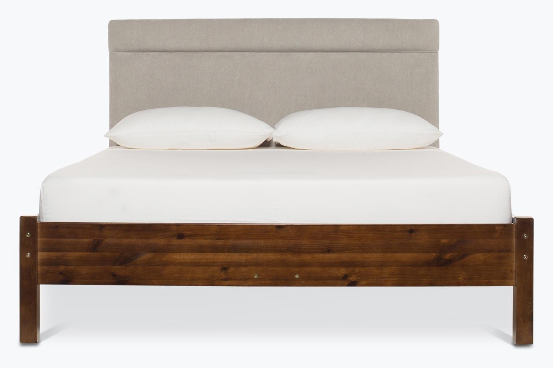 Emily Loft Walnut Bed Frame | 5FT | Elton Headboard Silver