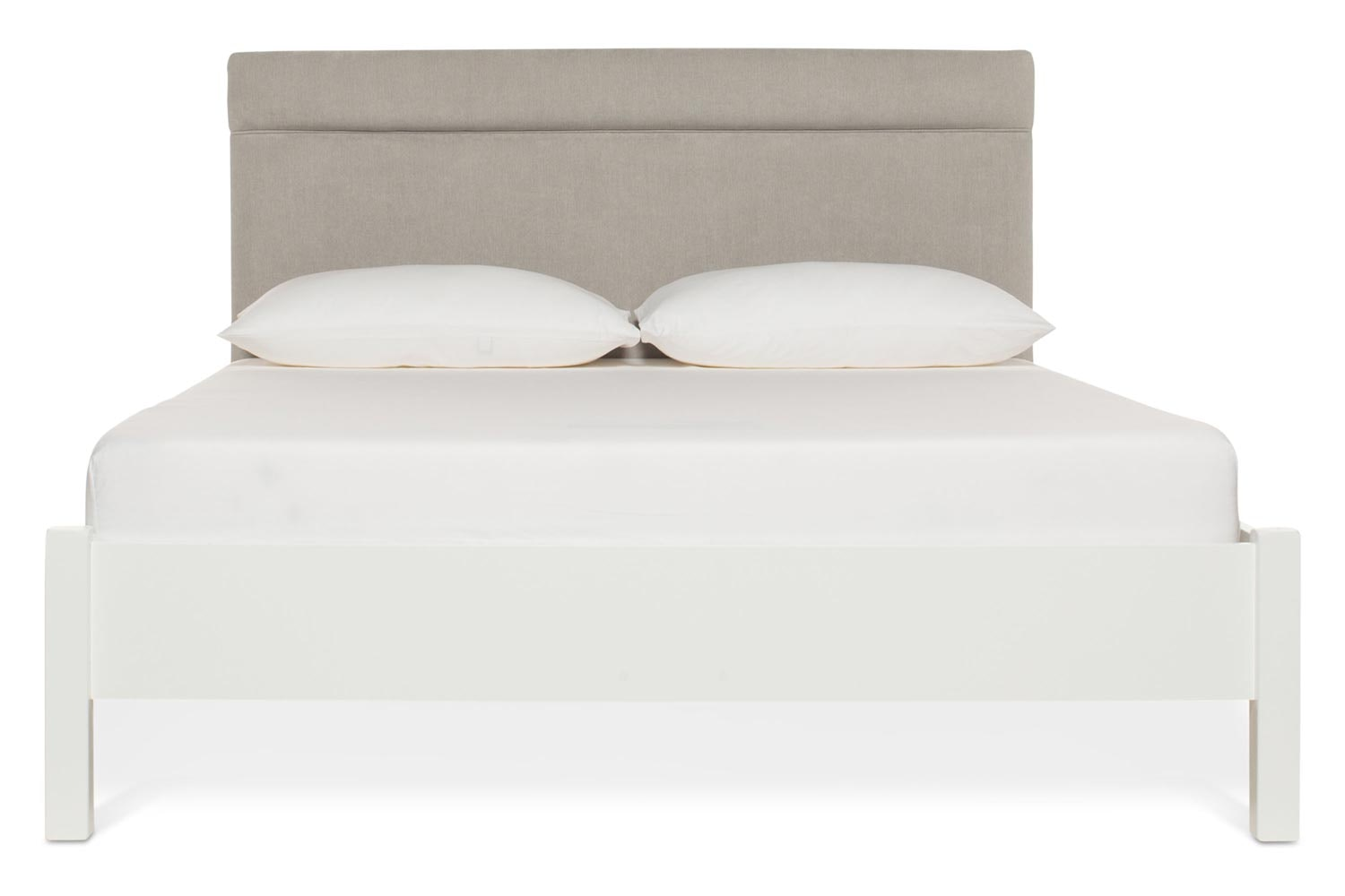 Emily Loft White Bed Frame | 5FT | Elton Headboard Silver