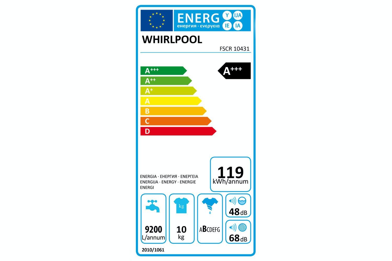 Whirlpool 10kg Washing Machine | FSCR10431