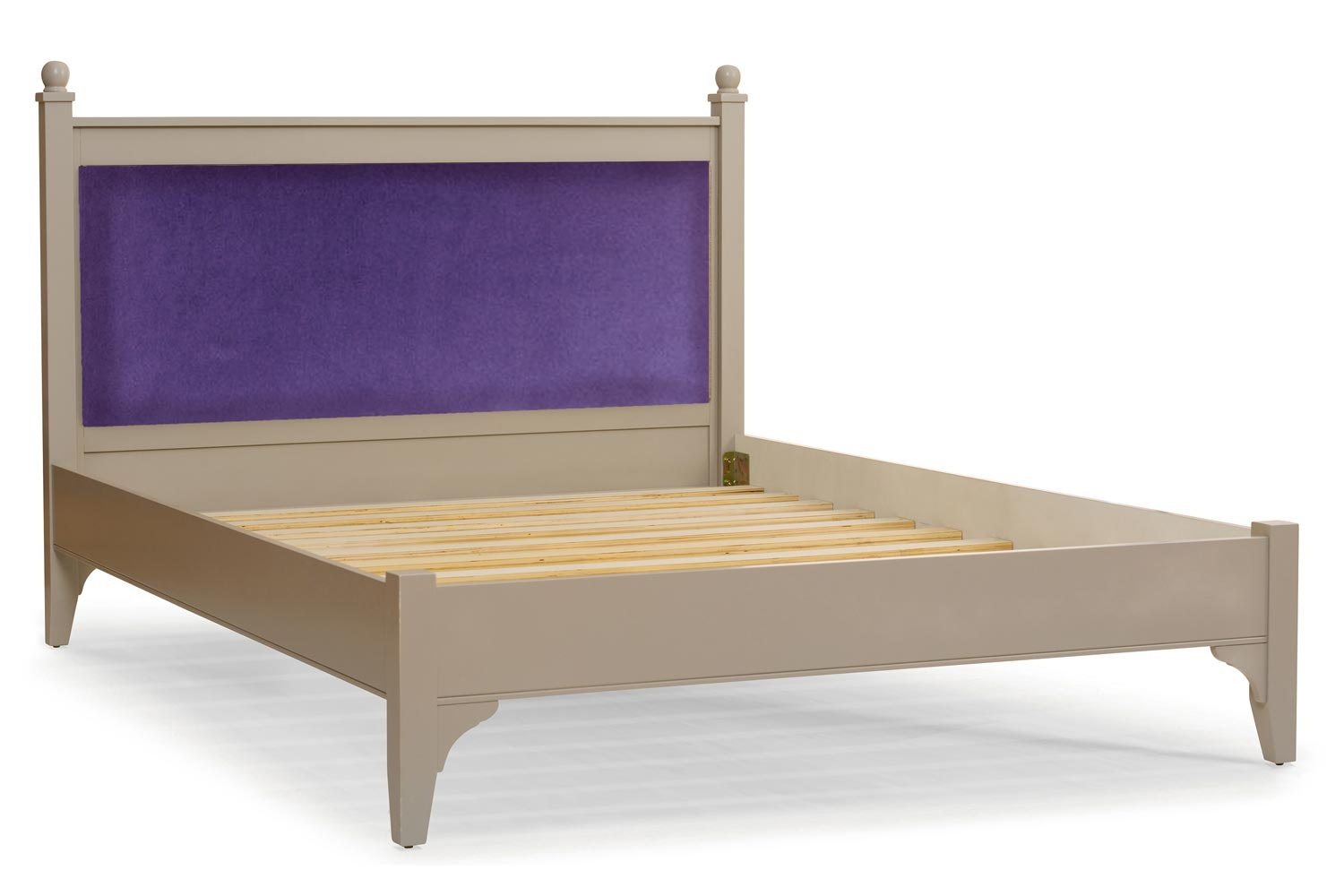 Lynwood Bed Frame | 6ft | Velvet Purple&Old Bone