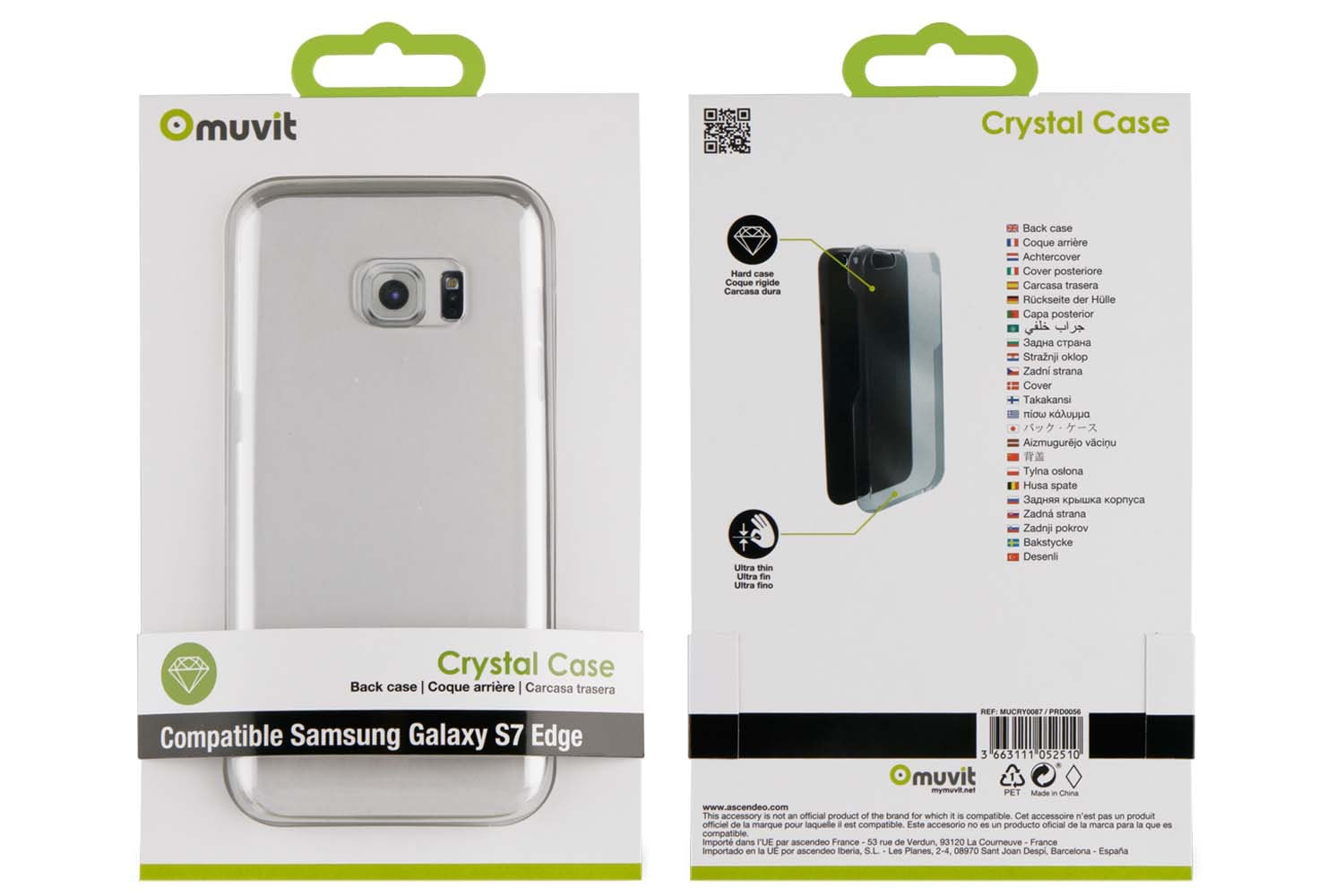 Muvit Samsung Galaxy J3 Crystal Case | Transparent