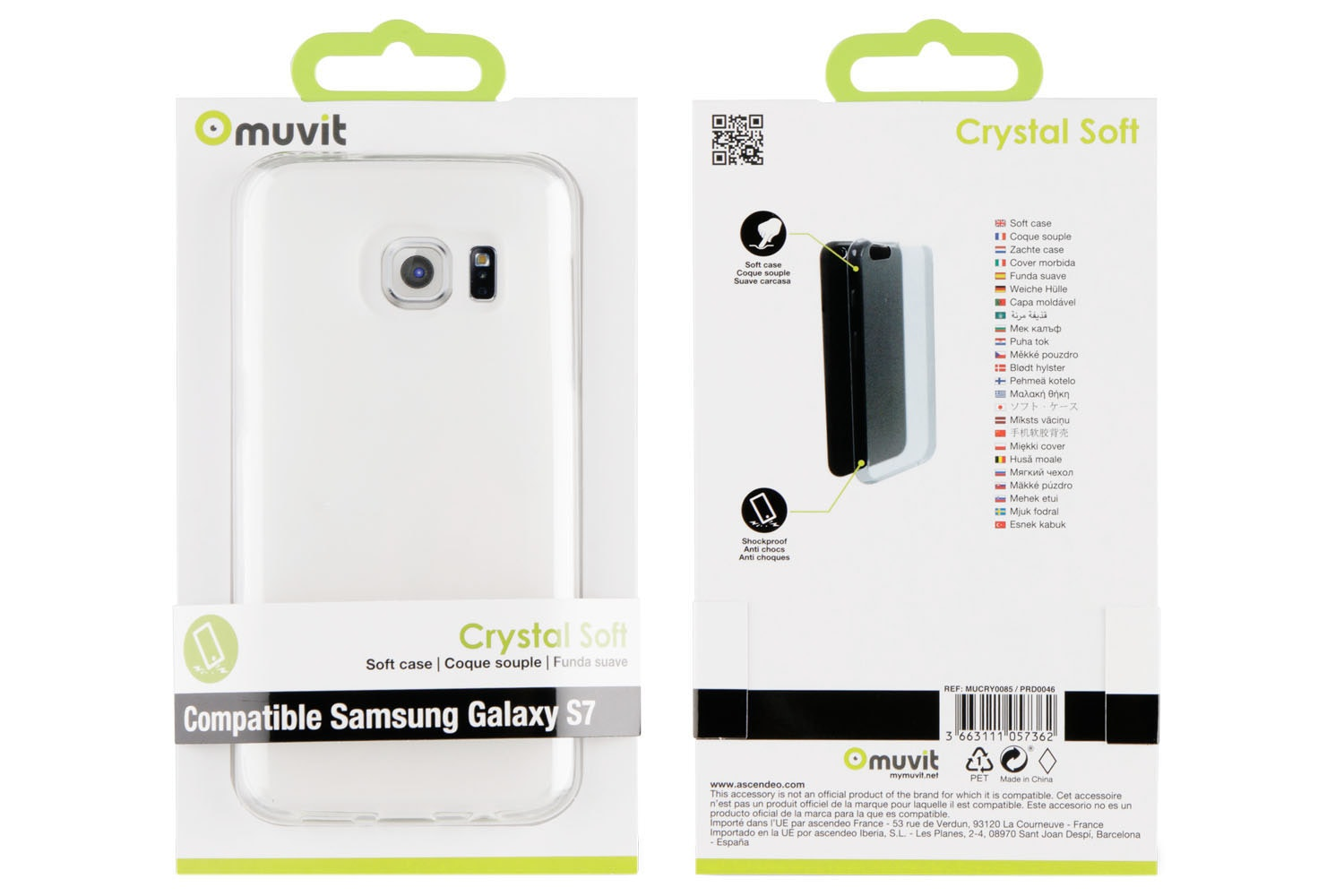 Muvit Samsung Galaxy S7 Crystal Soft Case | Transparent