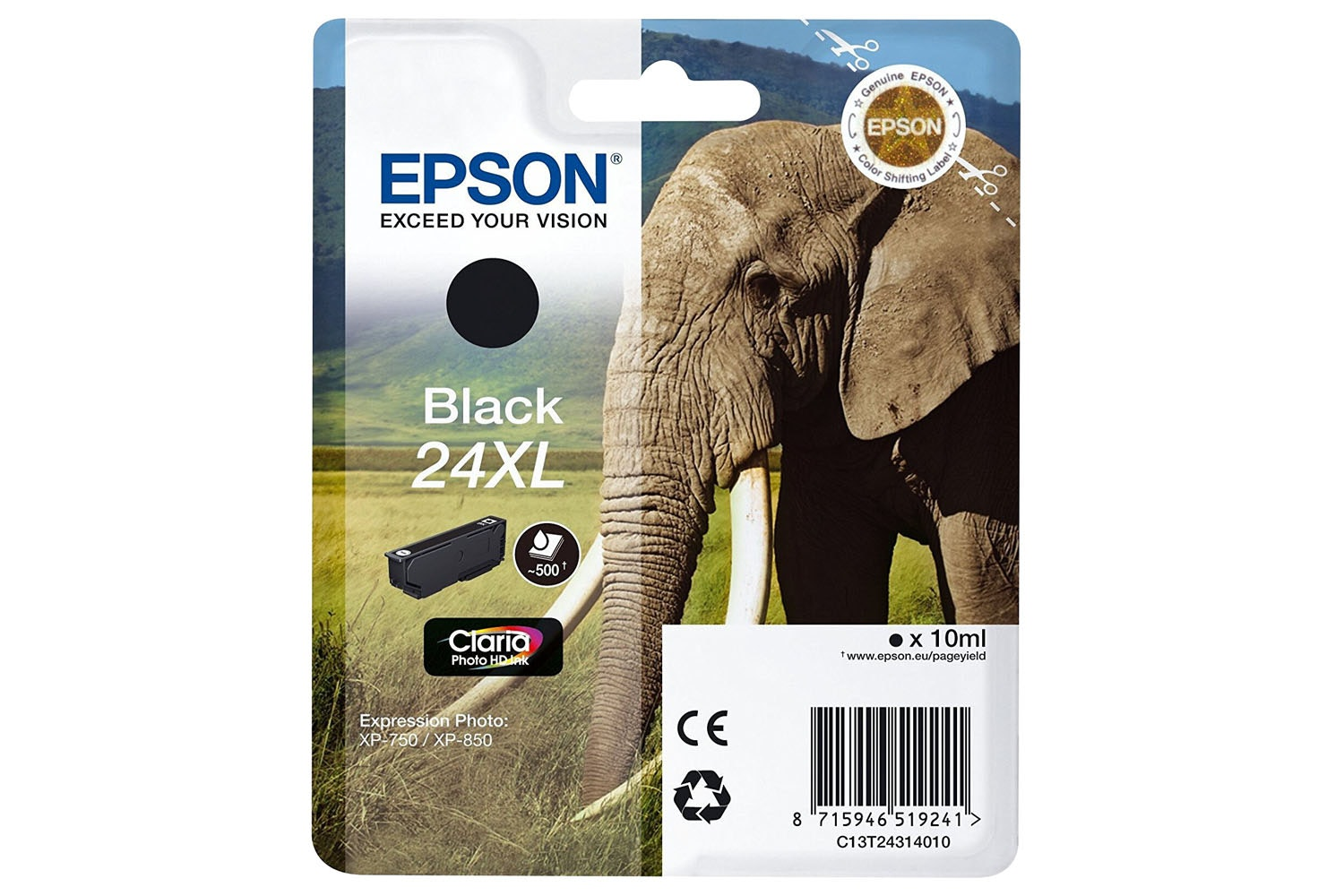 Epson Elephant 24 Ink Cartridge | Black