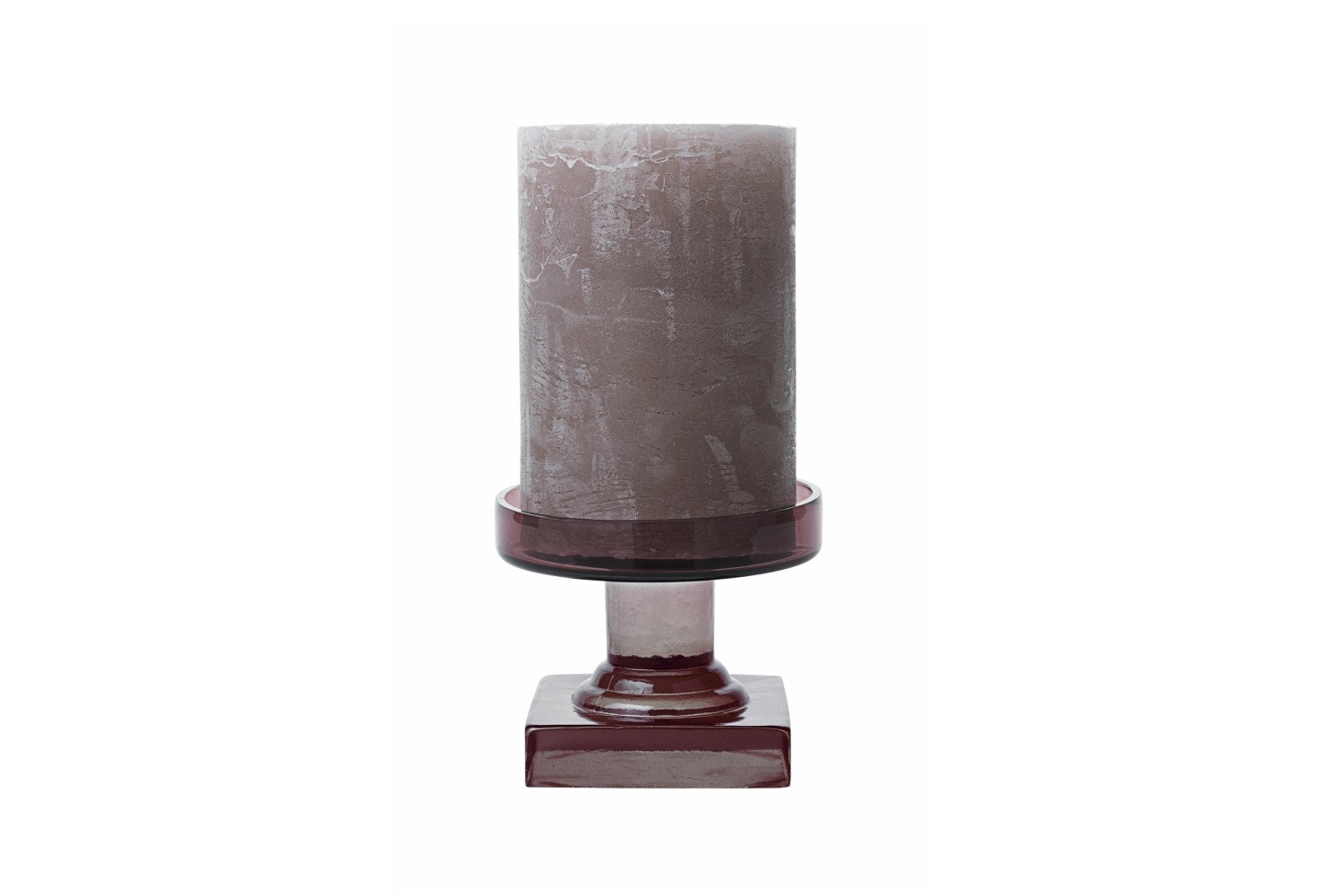 Trophy Glass Candle Holder Grape | Medium