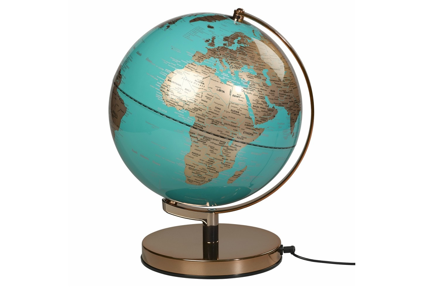 Globe Light | Metallic Copper Azure Blue