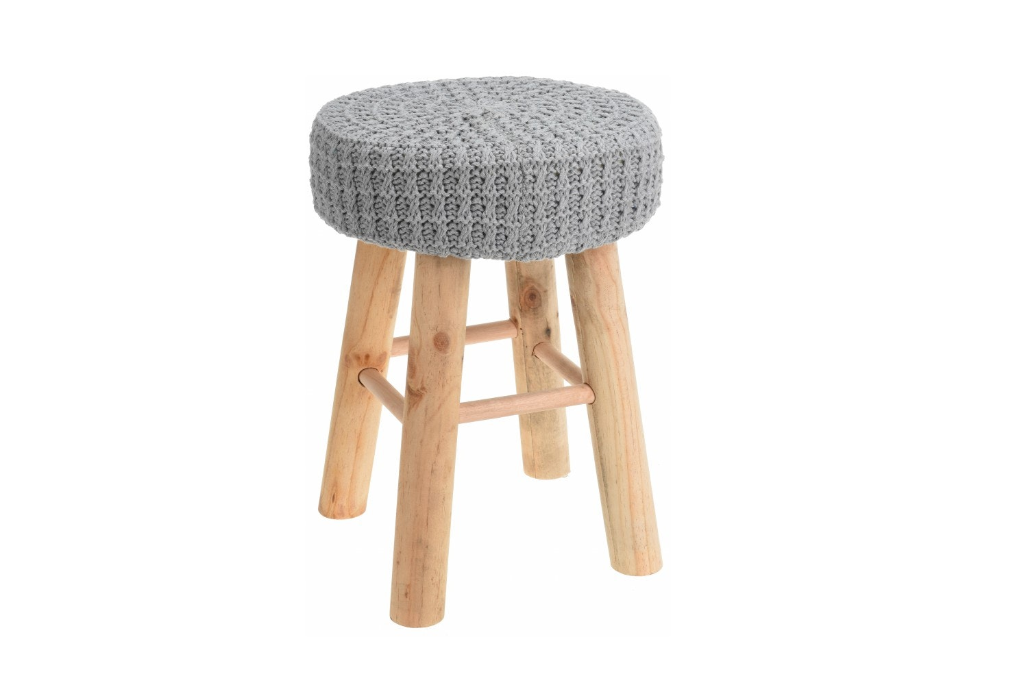 Knitted Stool | Grey
