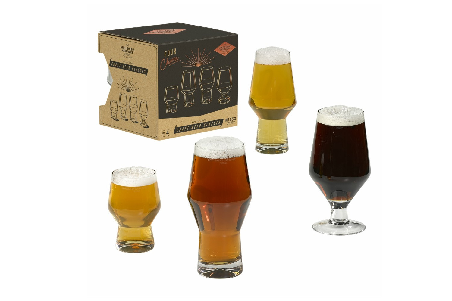 Craft Beer Glasses | 4 Glasses